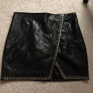 Black Studded BEBE Skirt